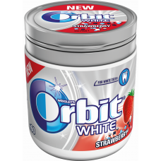 KOŠĻ.GUMIJA ORBIT WHITE STRAWBERRY 60GAB.