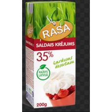 SALDAIS KRĒJUMS RASA UHT 35% 200ML