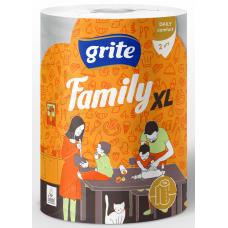 PAPĪRA DVIEĻI GRITE FAMILY XL 2KĀRTU 1 RULLIS