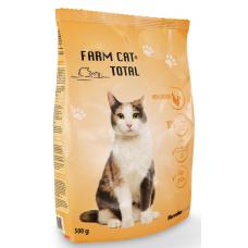 BARĪBA SAUSĀ KAĶIEM FARM  CAT AR VISTU 0.500KG