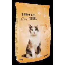 BARĪBA SAUSĀ KAĶIEM FARM CAT  AR VISTU 1KG