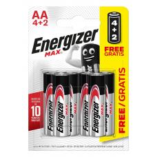 BATERIJAS ENERGIZER MAX AA 4+2 1.5V ALKALINE