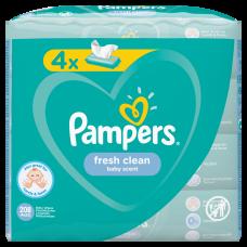 MITRĀS SALVETES PAMPERS FRESH CLEAN 4X52 GAB
